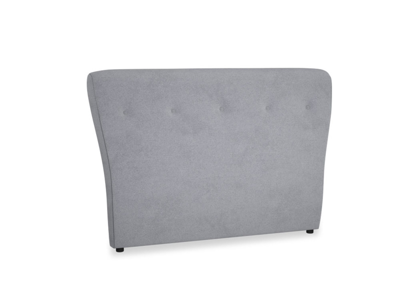 Double Smoke Headboard in Dove grey wool