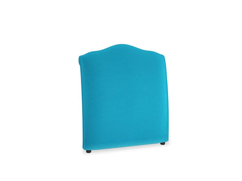 Single Frenchie Headboard in Azure plush velvet