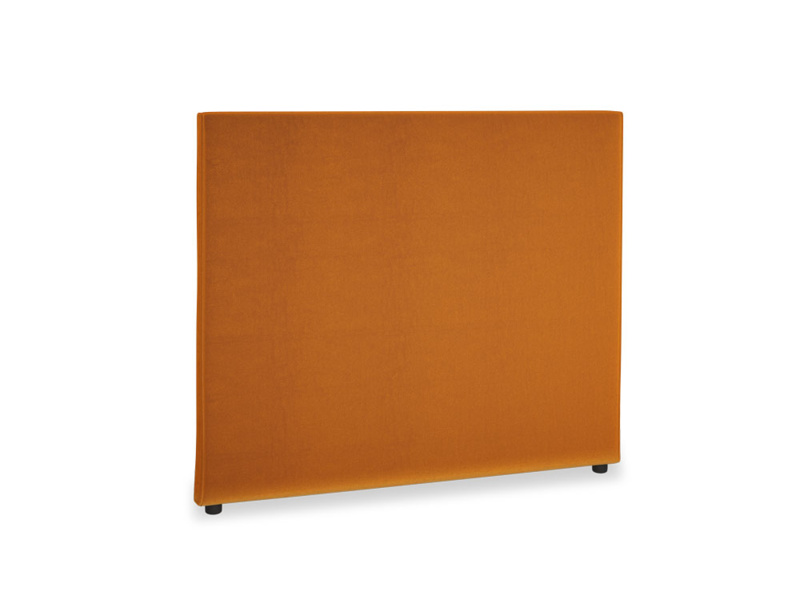 Double Piper Headboard in Spiced Orange clever velvet