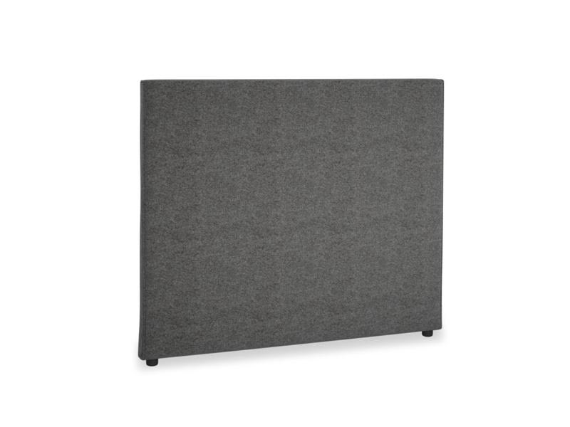 Double Piper Headboard in Shadow Grey wool