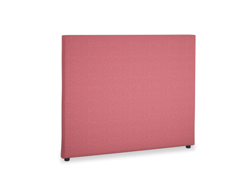 Double Piper Headboard in Raspberry brushed cotton