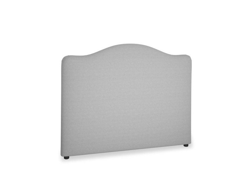 Double Luna Headboard in Magnesium washed cotton linen