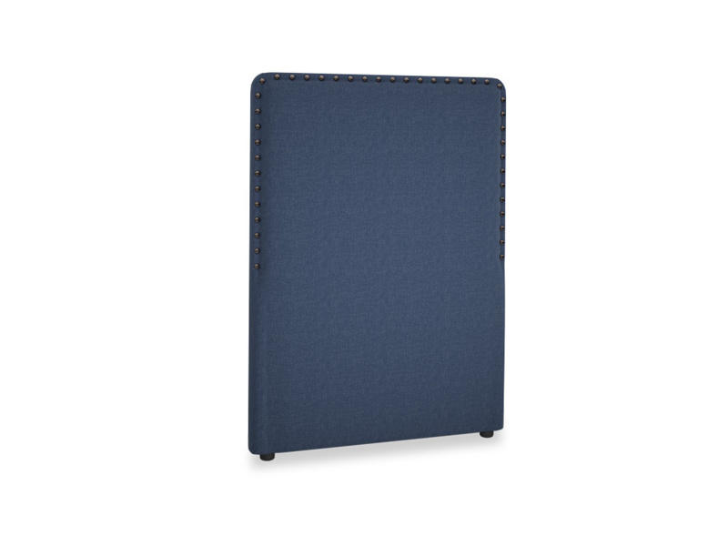 Single Smith Headboard in Navy blue brushed cotton