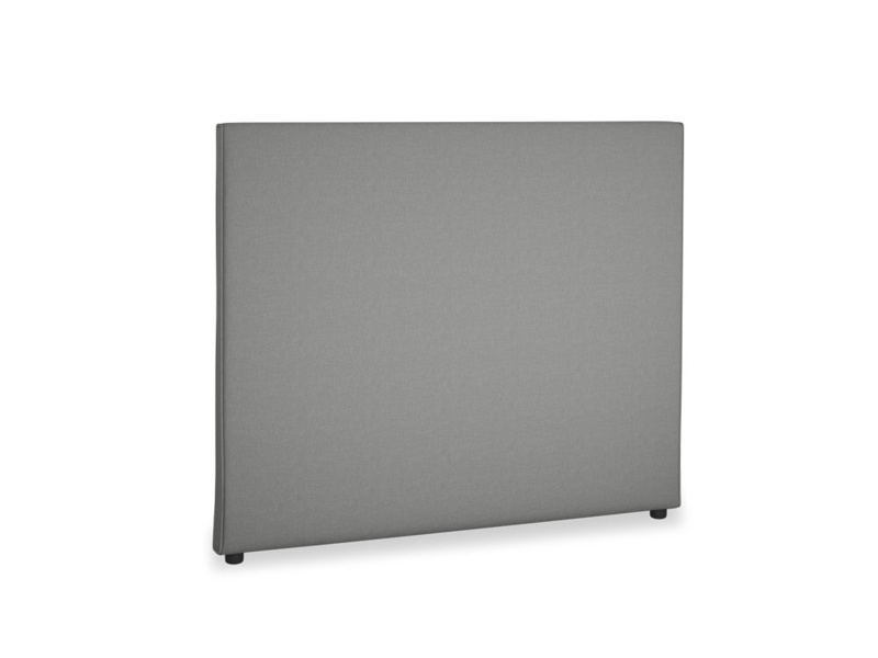 Double Piper Headboard in French Grey brushed cotton