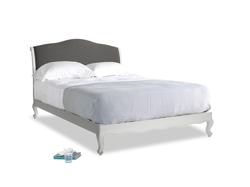 Kingsize Coco Bed in Scuffed Grey in Old Charcoal brushed cotton