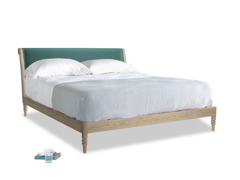 Superking Darcy Bed in Real Teal clever velvet