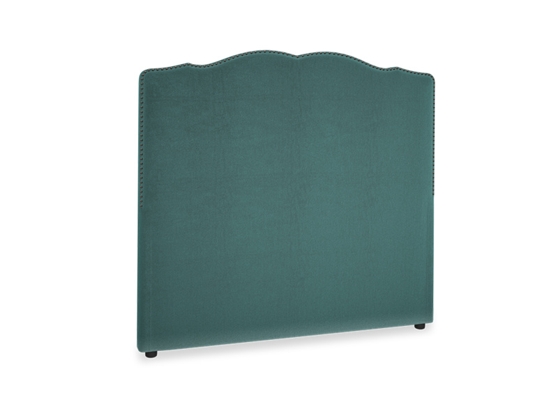 Double Marie Headboard in Real Teal clever velvet