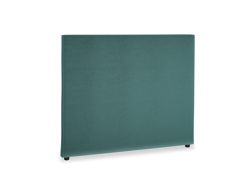 Double Piper Headboard in Real Teal clever velvet