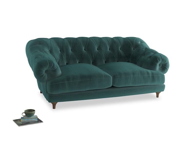 Medium Bagsie Sofa in Real Teal clever velvet