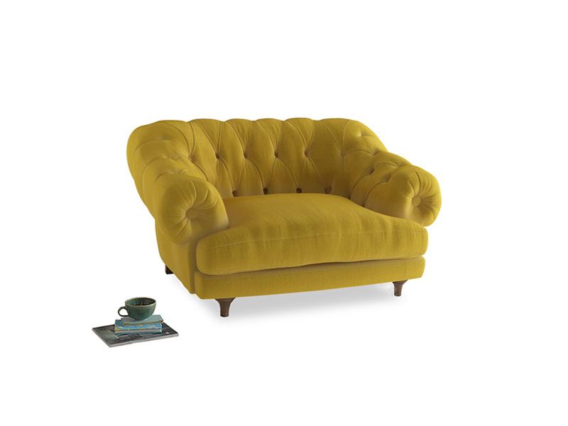 Bagsie Love Seat in Bumblebee clever velvet