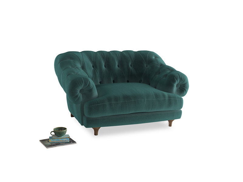 Bagsie Love Seat in Real Teal clever velvet