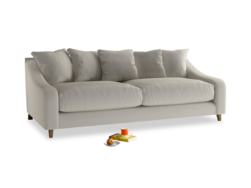 Large Oscar Sofa in Smoky Grey clever velvet