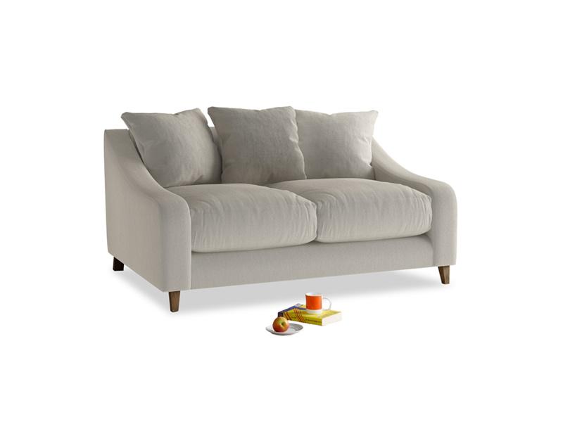 Small Oscar Sofa in Smoky Grey clever velvet