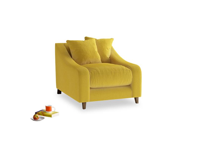 Oscar Armchair in Bumblebee clever velvet