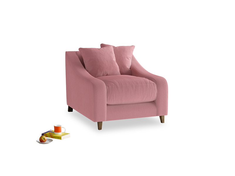 Oscar Armchair in Dusty Rose clever velvet