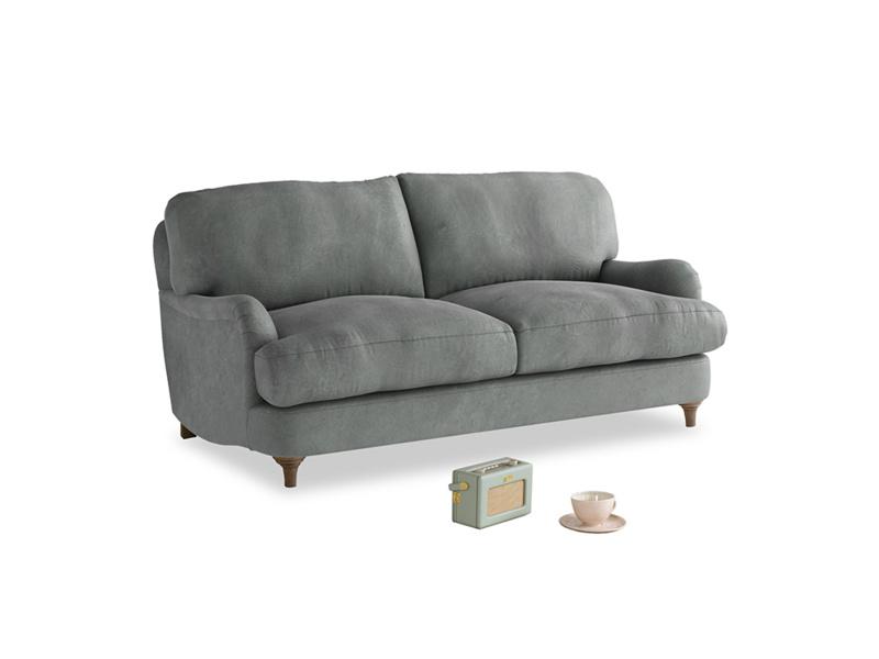 Small Jonesy Sofa in Faded Charcoal beaten leather