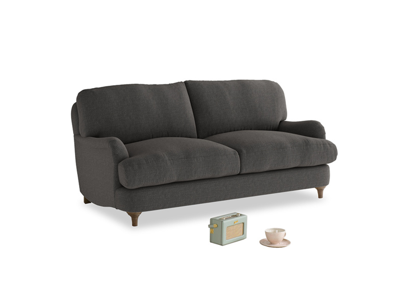 Small Jonesy Sofa in Old Charcoal brushed cotton