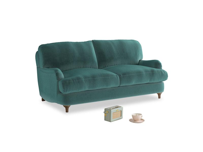 Small Jonesy Sofa in Real Teal clever velvet