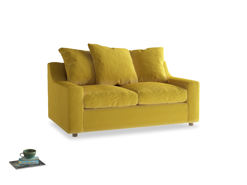 Small Cloud Sofa in Bumblebee clever velvet