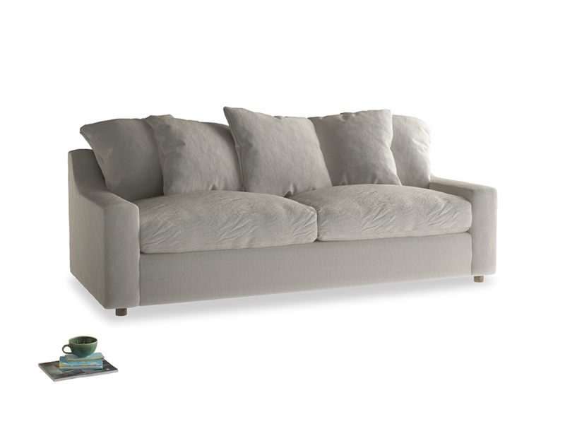 Large Cloud Sofa in Smoky Grey clever velvet