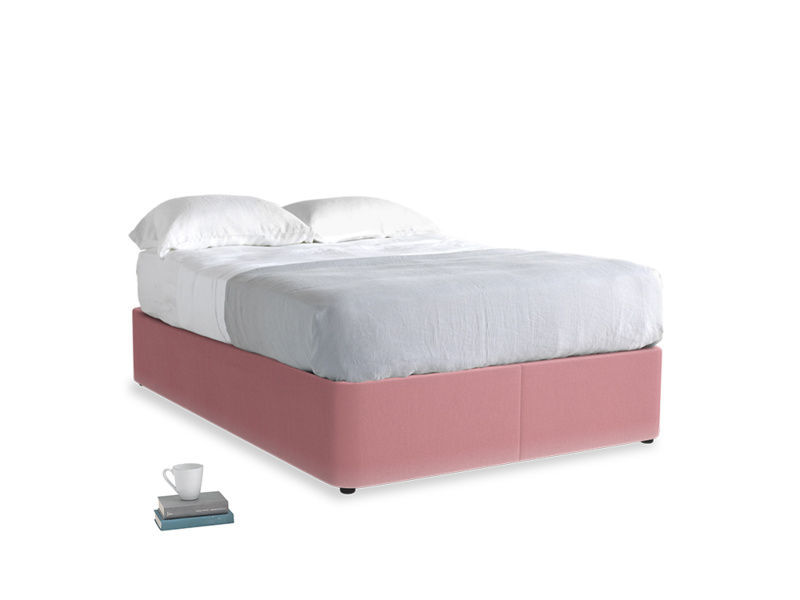 Double Store Storage Bed in Dusty Rose clever velvet