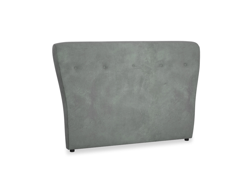 Double Smoke Headboard in Faded Charcoal beaten leather
