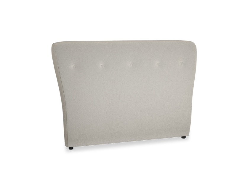 Double Smoke Headboard in Smoky Grey clever velvet