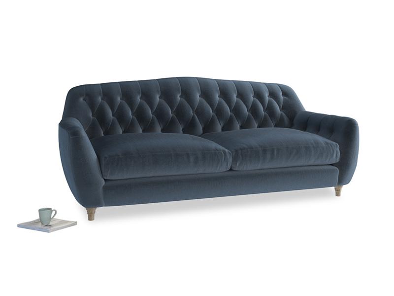 Large Butterbump Sofa in Liquorice Blue clever velvet