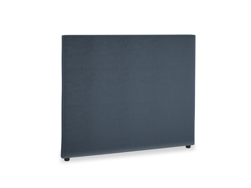 Double Piper Headboard in Liquorice Blue clever velvet