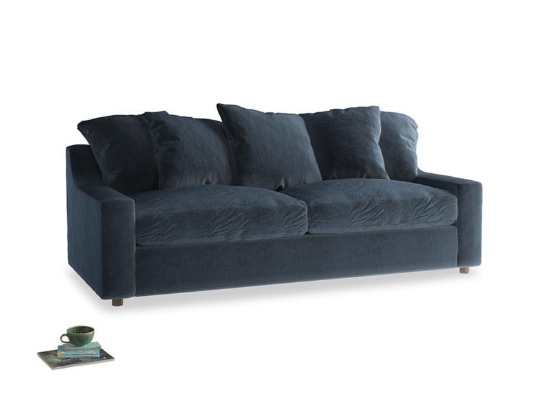 Large Cloud Sofa in Liquorice Blue clever velvet