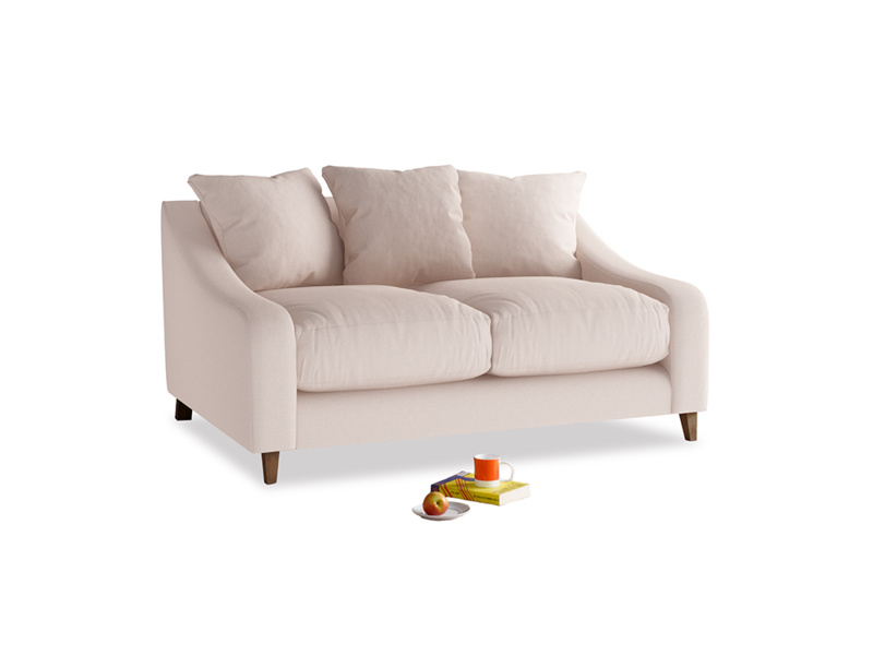 Small Oscar Sofa in Faded Pink brushed cotton