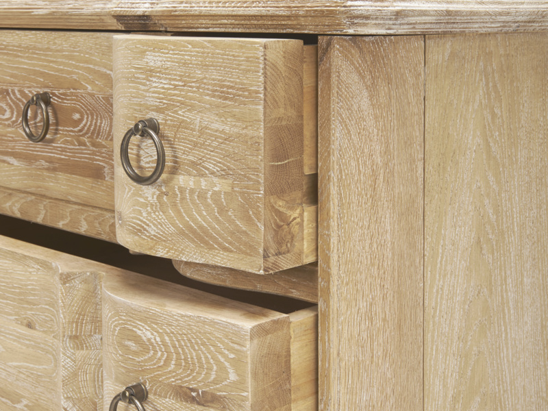 Antique french style Otterley bedroom chest of drawers in oak