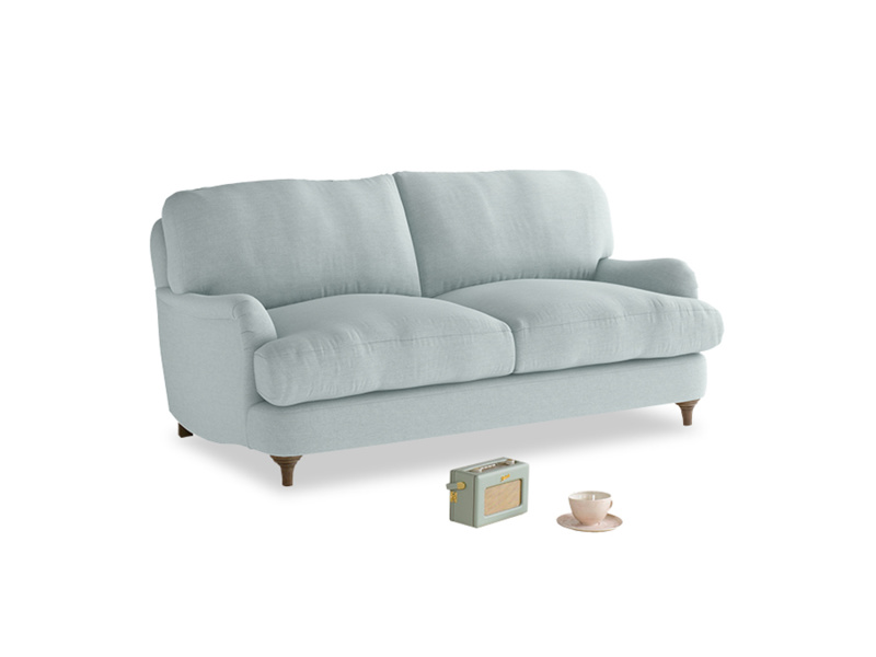 Small Jonesy Sofa in Duck Egg vintage linen