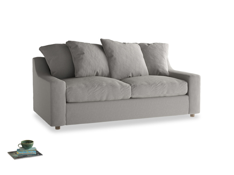 Medium Cloud Sofa Bed in Wolf brushed cotton