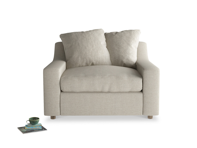 Extra comfy and deep Cloud love seat and snuggler sofa