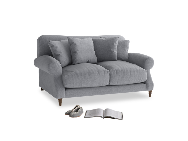 Small Crumpet Sofa in Dove grey wool