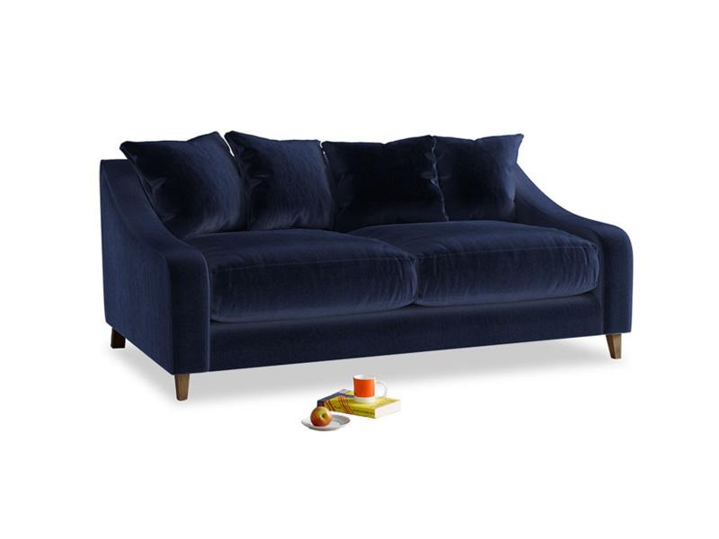 Medium Oscar Sofa in Midnight plush velvet