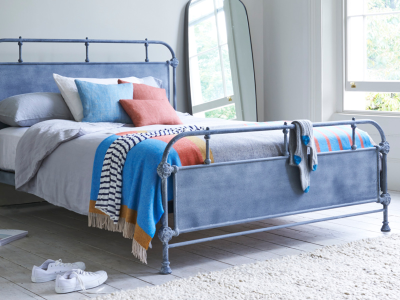 Striped wool Dasher blanket and bed throw