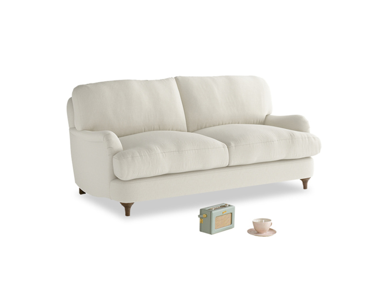 Small Jonesy Sofa in Oat brushed cotton
