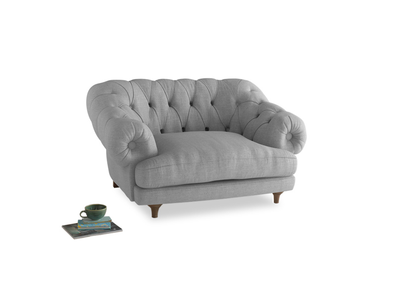 Bagsie Love Seat in Cobble house fabric