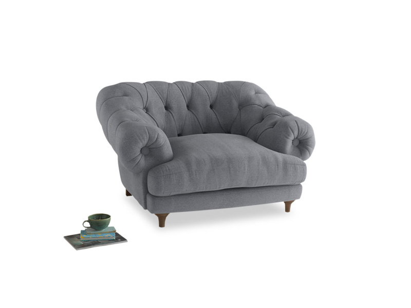 Bagsie Love Seat in Dove grey wool