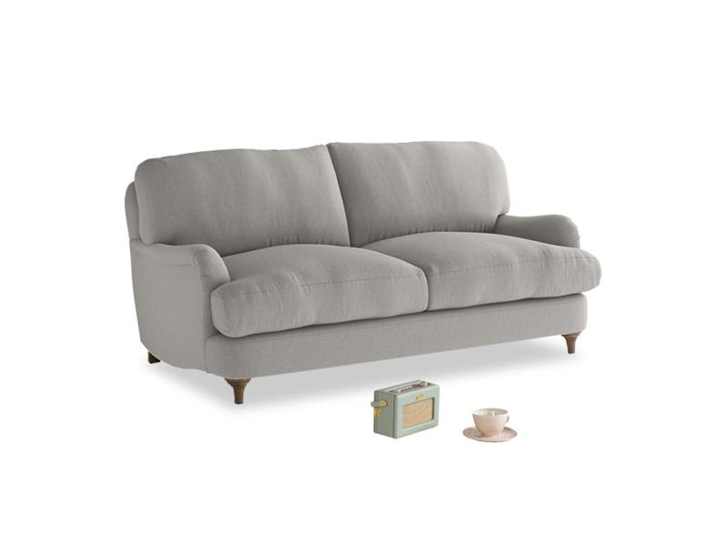 Small Jonesy Sofa in Wolf brushed cotton