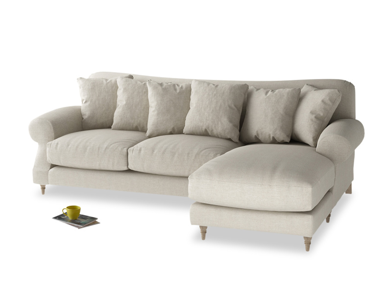 XL Right Hand  Crumpet Chaise Sofa in Thatch house fabric