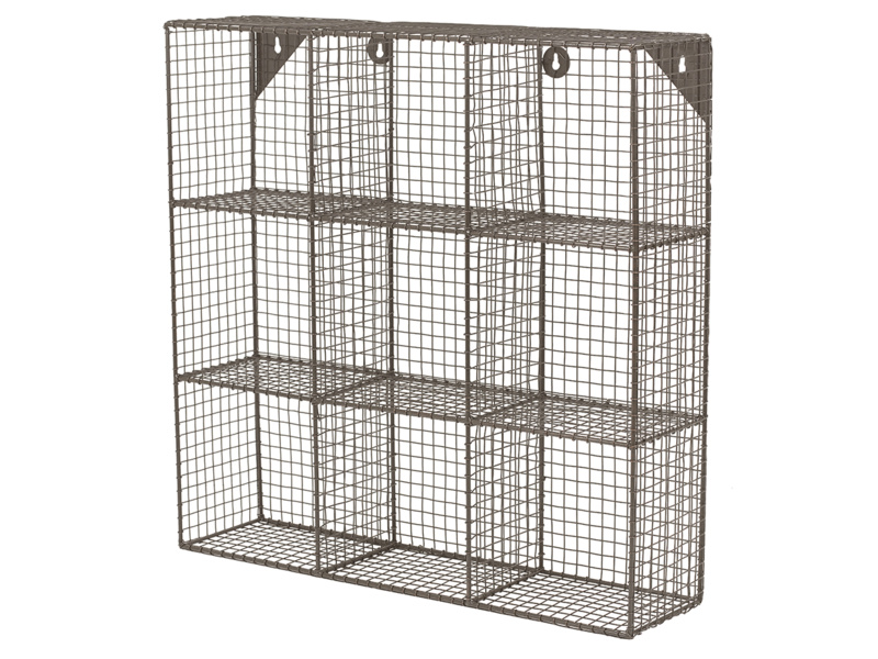 Strong British made waffle industrial style wire shelves