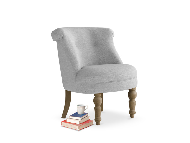 Bovary Armchair in Cobble house fabric