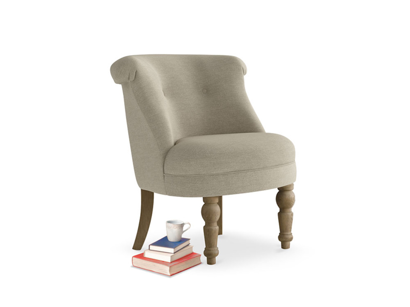 Bovary Armchair in Jute vintage linen
