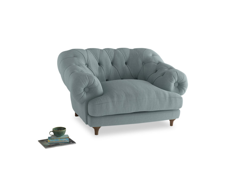 Bagsie Love Seat in Smoke blue brushed cotton