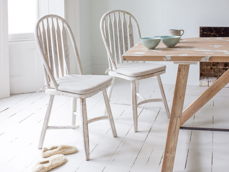 Beautiful hoop back white kitchen Bossy chairs