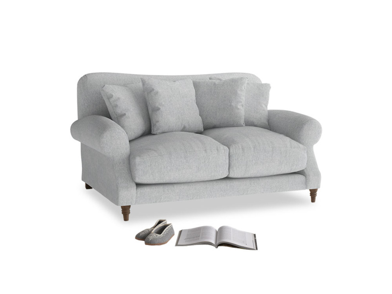 Small Crumpet Sofa in Pebble vintage linen