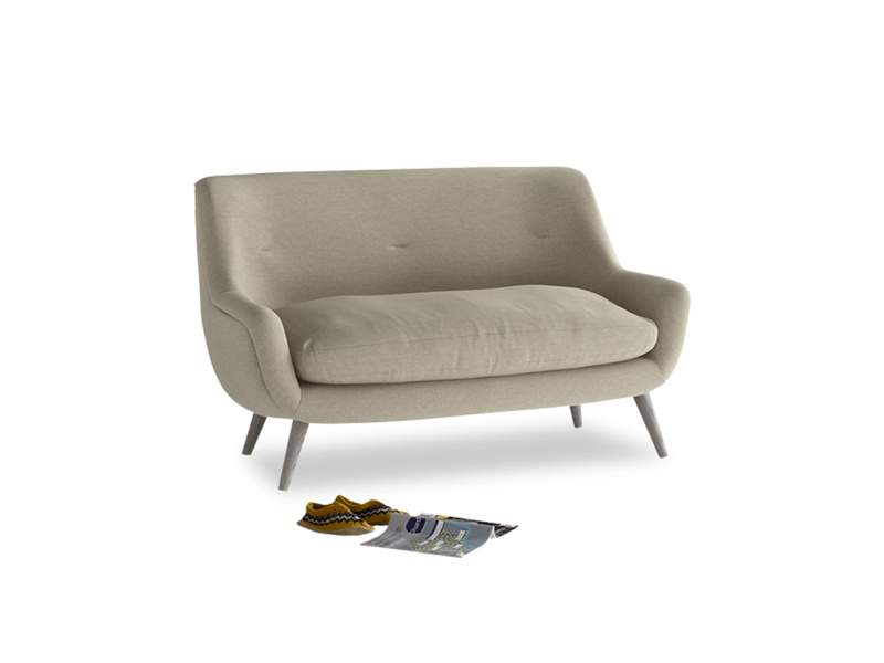 Small Berlin Sofa in Jute vintage linen